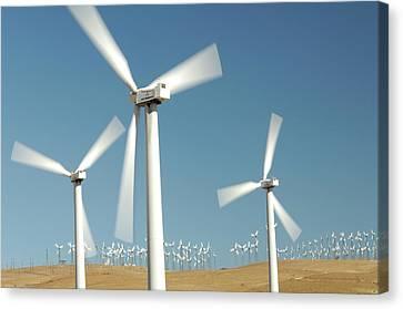 Usa, California, Wind Farm, Wind Power Canvas Print by Gerry Reynolds
