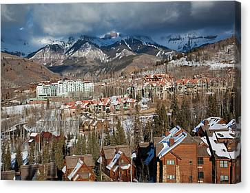 Usa, Colorado, Telluride, Elevated View Canvas Print
