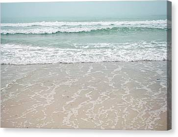 Usa, Florida, Sarasota, Crescent Beach Canvas Print by Bernard Friel