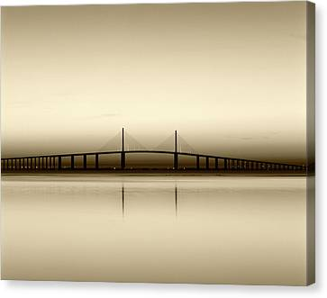 Usa, Florida, Sunshine Skyway Bridge Canvas Print