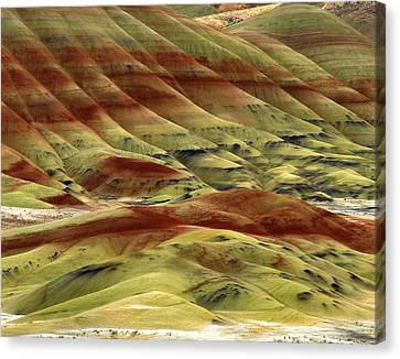 Usa, Oregon, John Day Fossil Beds Canvas Print by Jaynes Gallery