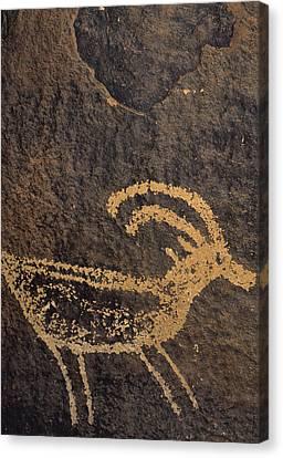 Usa, Utah, Petroglyphs, Sandstone Canvas Print by Gerry Reynolds
