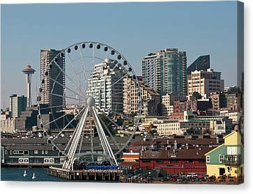 Pacific Northwest Ferry Canvas Print - Usa, Wa, Seattle by Trish Drury
