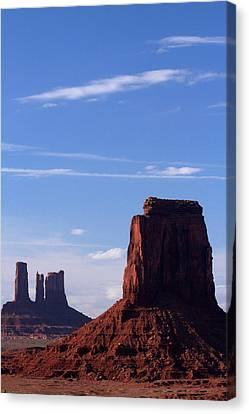 Utah Arizona Border, Navajo Nation Canvas Print by David Wall
