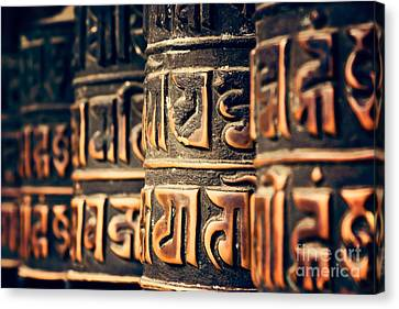 V2 Textures Buddha Is In The Details Canvas Print by Neville Bulsara
