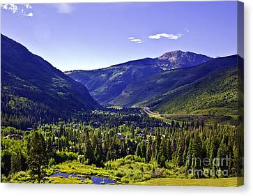 Vail Valley View Canvas Print