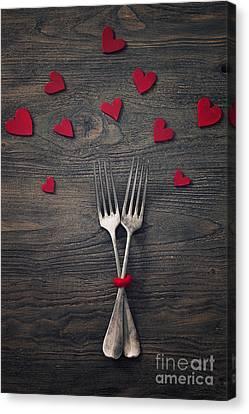 Valentines Dinner Canvas Print by Mythja  Photography