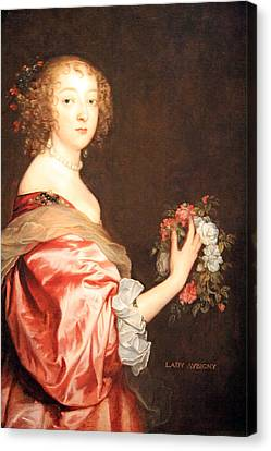 Van Dyck's Catherine Howard -- Lady D'aubigny Canvas Print by Cora Wandel