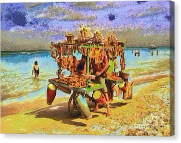 Varadero Beach Cuba Canvas Print by Odon Czintos
