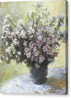 Vase Of Flowers Canvas Print by Claude Monet
