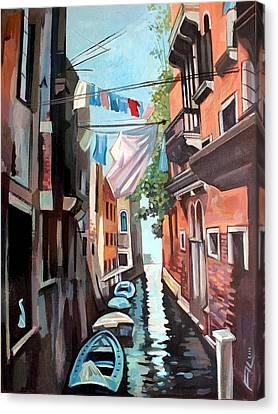 Venetian Channel 2 Canvas Print