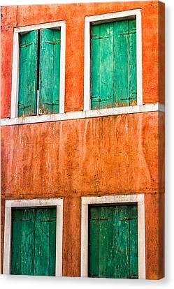 Venetian Houses Canvas Print