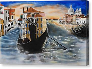 Venice Passing By Canvas Print