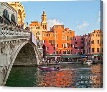 Venice Rialto Bridge Canvas Print by Heiko Koehrer-Wagner