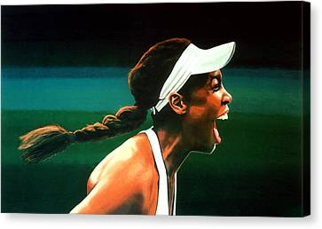 Slam Canvas Print - Venus Williams by Paul Meijering