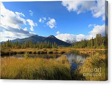 Vermillion Lakes Banff Alberta Canvas Print