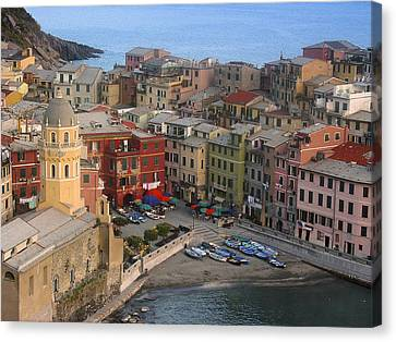 Vernazza Canvas Print - Vernazza From Above by Andrew Soundarajan