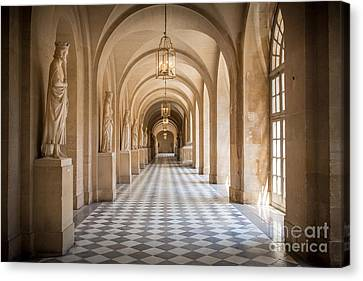 Versailles Hallway Canvas Print by Inge Johnsson