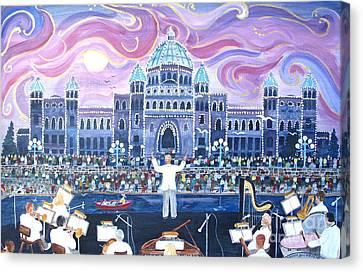 Victoria Symphony Splash Canvas Print by Virginia Ann Hemingson