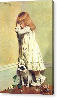 Disobedient Canvas Print - Victorian Art Piece by Indian Summer