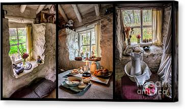 Laundry Canvas Print - Victorian Cottage by Adrian Evans