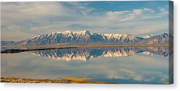 View From Antelope Island Causeway Canvas Print by Howie Garber