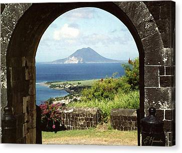 View From Brimstone Hill Fortress Canvas Print by Ellen Henneke