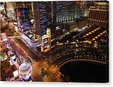 View From Eiffel Tower In Las Vegas - 01132 Canvas Print