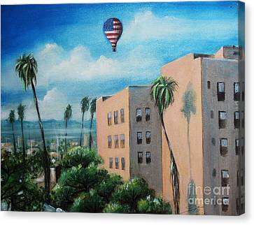 Canvas Print featuring the painting View From Olympic Boulevard by S G