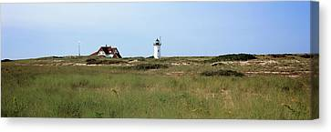 View Of A Lighthouse, Race Point Light Canvas Print by Panoramic Images