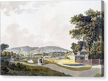 View Of The Park At Neu-waldeg Canvas Print by Laurenz Janscha