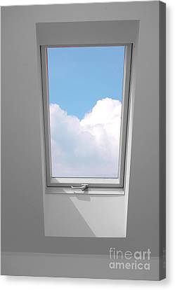 View Through The Window. Canvas Print by Michal Bednarek