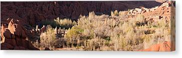 Village In The Dades Valley, Dades Canvas Print by Panoramic Images