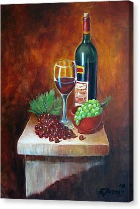 Vino Tinto Canvas Print by Edgar Torres