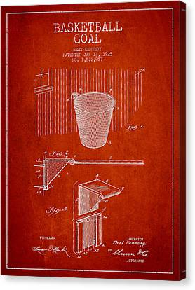 Vintage Basketball Goal Patent From 1925 Canvas Print by Aged Pixel