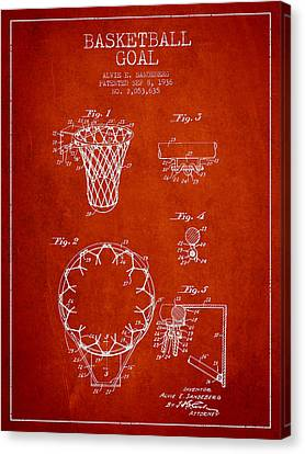 Vintage Basketball Goal Patent From 1936 Canvas Print by Aged Pixel
