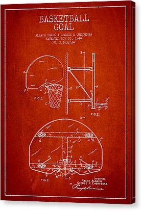 Vintage Basketball Goal Patent From 1944 Canvas Print by Aged Pixel