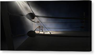 Vintage Boxing Corner And Stool Canvas Print