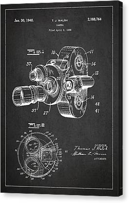Vintage Camera Patent Drawing From 1938 Canvas Print