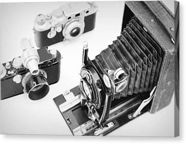 Vintage Cameras Canvas Print by Chevy Fleet