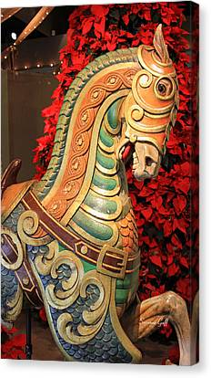 Vintage Carousel Horse Canvas Print by Suzanne Gaff