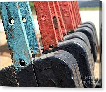 Vintage Railroad Switches Canvas Print