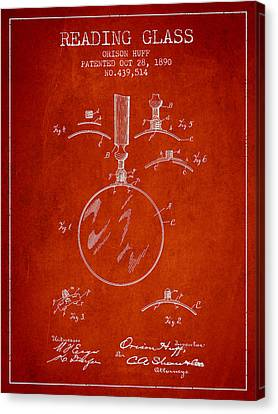 Vintage Reading Glass Patent From 1890 Canvas Print