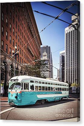 Vintage Streetcar San Francisco Canvas Print by Colin and Linda McKie