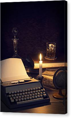 Vintage Typewriter Canvas Print by Amanda Elwell