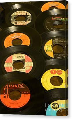 Disk Canvas Print - Vinyl Lover by Paul Ward