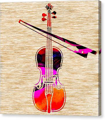 Violin And Bow Canvas Print
