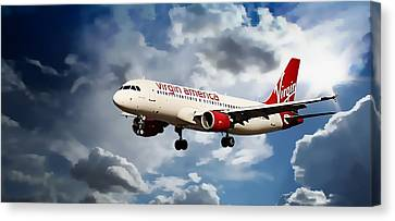 Virgin America Mach Daddy  Canvas Print