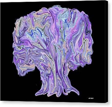 Canvas Print featuring the digital art Vision Tree by Aliceann Carlton