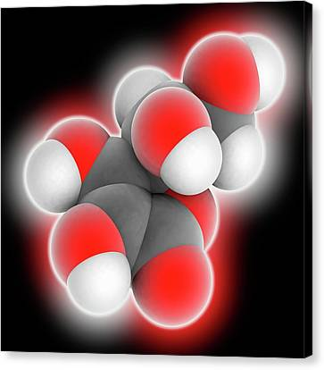 Vitamin C Ascorbic Acid Molecule Canvas Print by Laguna Design